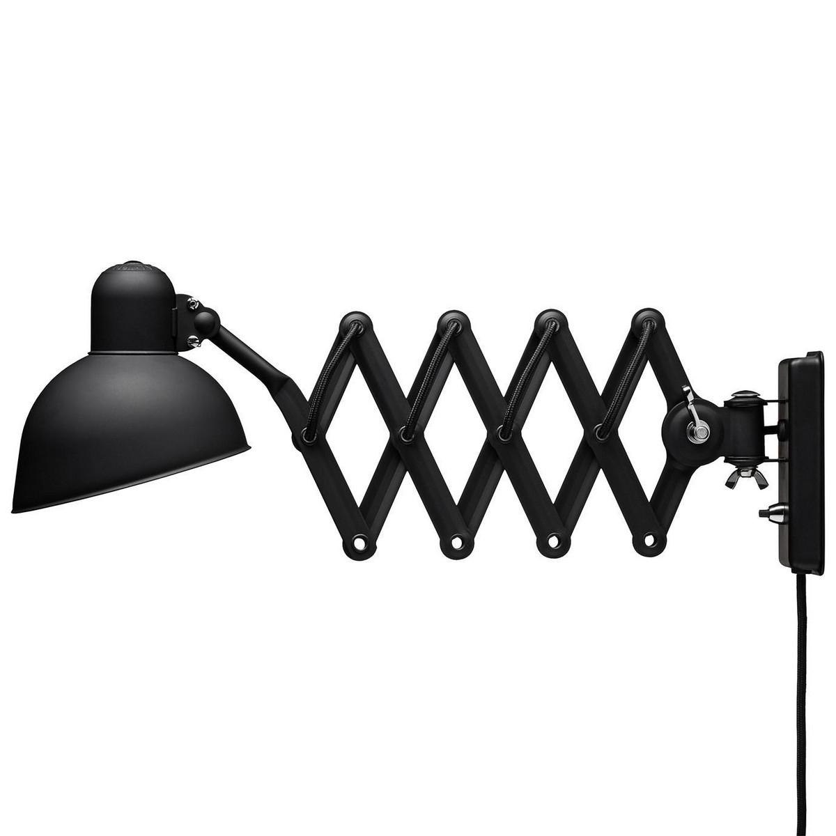 Kaiser idell 6718-W Matt Sort Væglampe