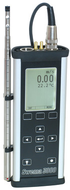 Swema 3000MD measuring instrument with pressure probe for measuring of ventilation and environmental parameters inside a building 5706445560219
