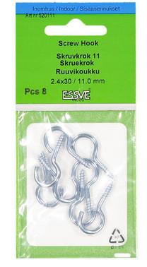 Screw Hook 11 Electro galv. 30mm-8 520111