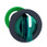 Harmony flush drejegreb i plast for LED med 3 positioner og fjeder-retur til midt i grøn farve ZB5FK1533 miniature