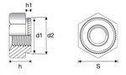 Clinch nut K series standard A2