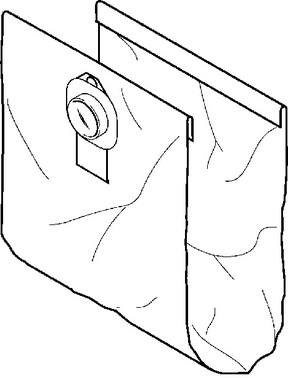 Nilfisk fleece filterpose 5 stk prof 107419591