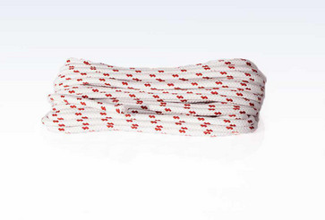 Yacht rope braided in hanks16- braided with core ( core not braided)Matriel: plait, polyester - stapel         core,  polyester - silkwhite with red fleck10 mm x 20 meter 540260