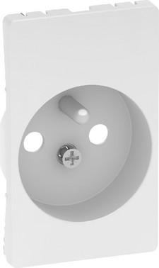 LK FUGA antibakteriel afdækning for stikkontakt med pindjord 1½ modul, hvid 580D6671