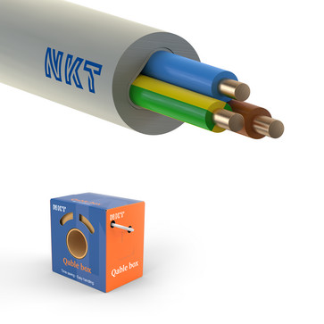 Installationskabel 3G1,5 NOIKLX90 lysegrå QB75 172547001B0075