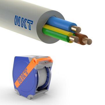Installationskabel 3G2,5 NOIKLX90 lysegrå Qaddy 500m 172547005Q0500