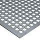 Perforerede plade firkantet 2000x1000x1,5 mm 10 mm hul 410-002; luftprocent 69% JFPK2115