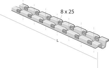 Profilskinne procsn 2000-X 13023