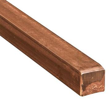 Kobberstænger firkantede elektrolytisk 10 mm