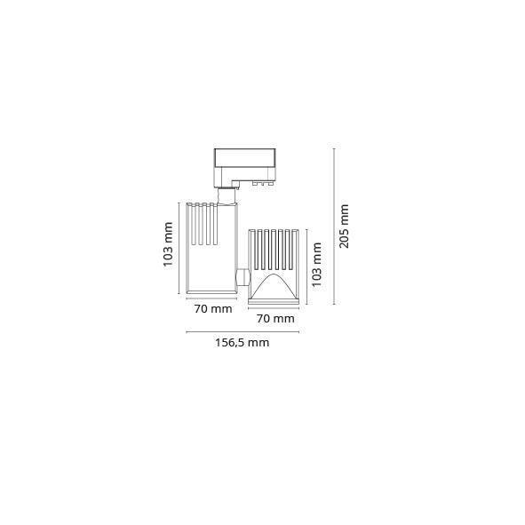 Zip Pro Mini Mat-Hvid 16W LED 3000K 3Fase