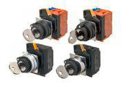SelectorA22NK 22 dia., Key type S, 2 position, bezel plast,mAnual, frigivelsesstilling venstre, 1NO A22NK-2BM-01BA-G100 660968