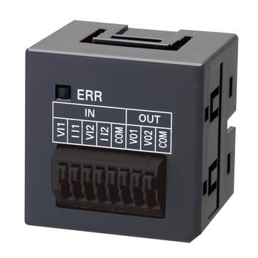Sysmac NX1PAnalog I/O skrueløse optionskort, 2xanaloge indgange 0 til 10 V, opløsning 1: 4000 eller 0 til 20mA, opløsning 1: 2000, 2xanaloge udgange 0 til 10 V, opløsning 1: 4000 NX1W-MAB221 672507