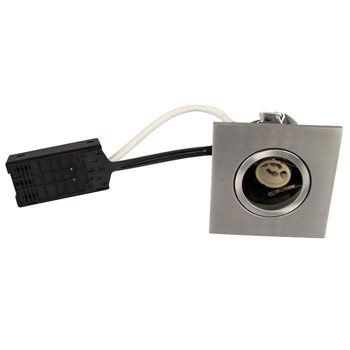 Luna Quick install 230V GU10 IP44 Børstet Alu Firkantet.