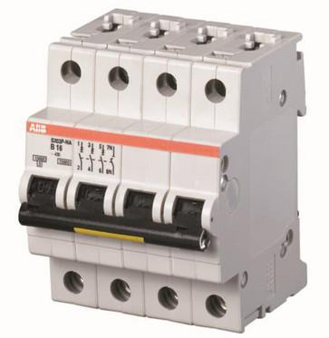 Automatsikring B 50A, 3-polet + nul B-karakteristik, brydeevne 15kA, 230/400V AC, 70mm bred S203P-B50NA 2CDS283103R0505