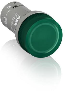Grøn lampe med integreret LED 12V DC CL2-501G 1SFA619403R5012