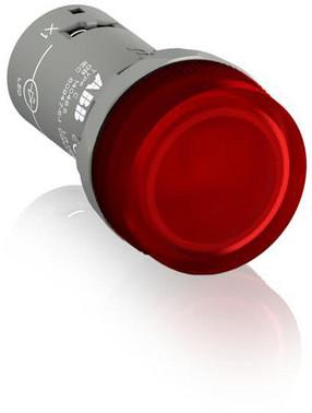 Rød lampe med integreret LED 220V DC CL2-520R 1SFA619403R5201