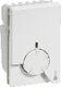 FUGA indsats termostat med natsænkning og gulvføler med 4 m kabel, hvid 1024000548