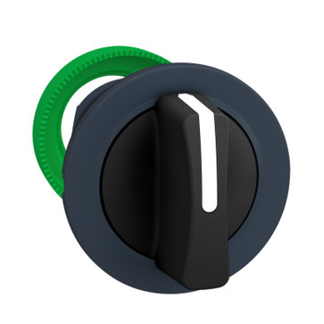 Harmony flush drejegreb i plast med et kort sort greb med 3 faste positioner ZB5FD3