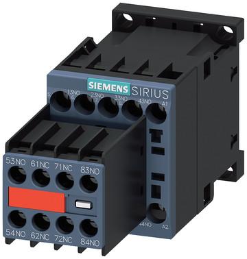 Hjælpekontaktor, 6NO+2NC, AC 230V, 50/60 Hz, S00, skrue , permanent hjælpekontakt, For SUVA applikAtioner 3RH2262-1AP00