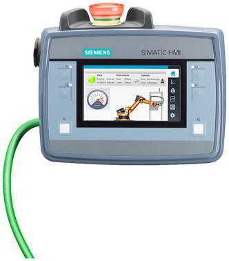 SIMATIC HMI KTP400F mobile, enabling button, emergency stop 6AV2125-2DB23-0AX0