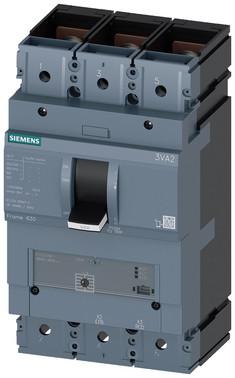 Maksimalafbryder 3VA2 IEC byggestr. 630, brydeevne klasse; C ICU=110KA @ 415 V 3-polet, motorstarter beskyttelse ETU310M, IN=500A 3VA2450-7MS32-0AA0