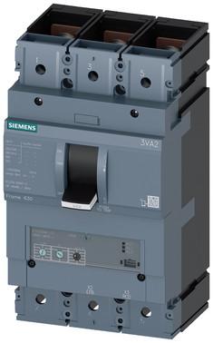 Maksimalafbryder 3VA2 IEC byggestørrelse 630, brydeevne klasse; M ICU=55KA @ 415 V 3-polet, motorbeskyttelse ETU350M, LSI, IN=500A 3VA2450-5MN32-0AA0
