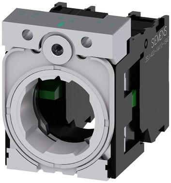 Holder for 3 moduler, metal, 1NO, 1NO 3SU1550-1AA10-1NA0