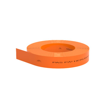 Markeringsbånd orange 25x0,3mm i rl á 250 mtr - Pas på - herunder fiberkabel 11026