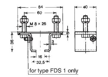 Ophæng fix med skrue i side, fds 1 0310430