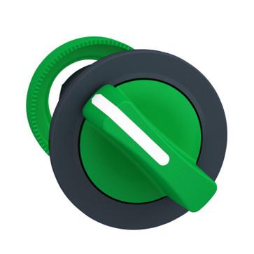Harmony flush drejegreb i plast med et kort grønt greb med 2 faste positioner ZB5FD203