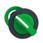 Harmony flush drejegreb i plast med et kort grønt greb med 2 faste positioner ZB5FD203 miniature