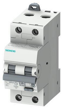 Kombiafbryder RCBO 10 kA 2P Type A 30 mA B In: 16A Un: 230V super-resistant 5SU1324-6FR16