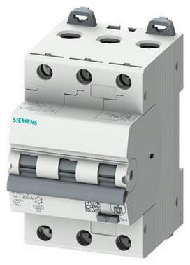 Kombiafbryder RCBO 6 kA 3P Type A 30 mA B-Karatistik In: 16A Un: 400V 5SU1336-6FP16