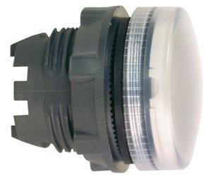 Harmony signallampehoved i plast for LED med riflet linse til udendørs brug i hvid farve ZB5AV013S