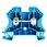 Gennemgangsklemme WDU 10 blå 102038 1020380000 miniature
