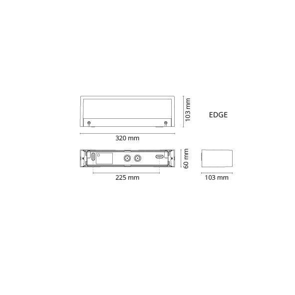 Edge Mat-Hvid 10W LED 3000K
