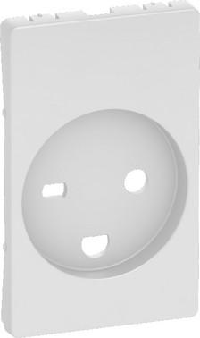 LK FUGA antibakteriel afdækning for hospital stikkontakt 2-polet + DK jord 1½ modul, hvid 580D6631