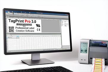 TagPrintPro labelsoftware til design og udskrivning af labels på TT430 printer 556-00051