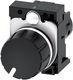 Potentiometer, Kompakt, 22 mm, rund, plastik, sort, 10K ohms, med holder, skrueklemme 7865994079