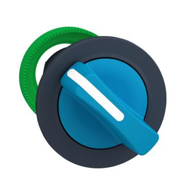 Harmony flush drejegreb i plast med et kort blåt greb med 2 faste positioner ZB5FD206