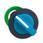 Harmony flush drejegreb i plast med et kort blåt greb med 2 faste positioner ZB5FD206 miniature