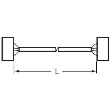 I/O-tilslutningskabel til G70V med Schneider Electric PLC'er board BMxDDO 1602 16 udgangspunkter, 0,5 m XW2Z-R050C-SCH-D 670785