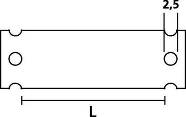 Skilteholder 52X13MM HC12-52 P50 525-13523