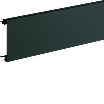 Installationskanallåg BR65 i plast højde=80mm RAL 9011 BR08029011