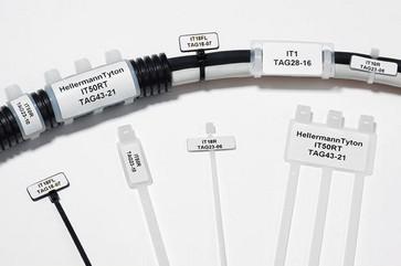 Komponentlabel 28 x 16 hvid til TT431 printer 596-12258