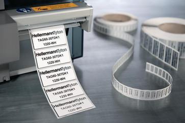 Panel label 27x12,5 sølv til TT431 printer 596-00576