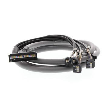 G2RV interfacekabel til brug mellem CJ1W-OD232/OD262 og 4 P2RV-8-O-F-moduler, 5 m P2RV-4-500C 379398