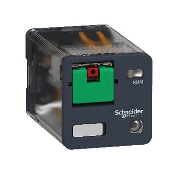 Stikbensrelæ 10A 3C/O 24VAC med LED og testknap RUMC32B7
