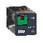 Stikbensrelæ 10A 3C/O 24VAC med LED og testknap RUMC32B7 miniature