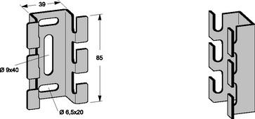 Vægholder rustfri 75 til 120mm 735R